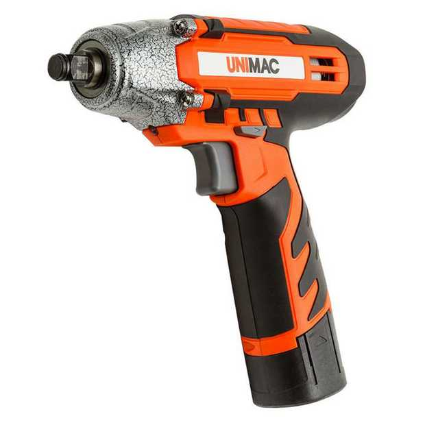 Change wheels effortlessly wherever you are. The Unimac 12 Volt Lithium-Ion Cordless Impact Wrench...