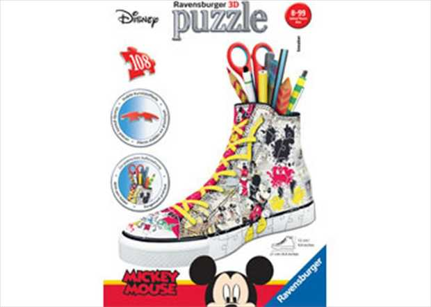You can build this very cool looking Disney Mickey Mouse Sneaker 3D Puzzle, and when it is...