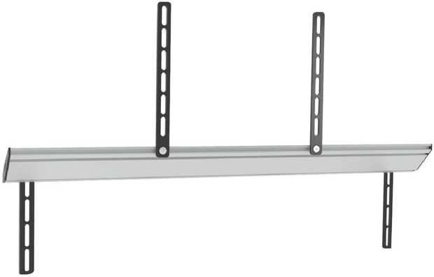 To keep your soundbar flush with your flat screen TV, the height and depth of the Sound Bar Mount can...
