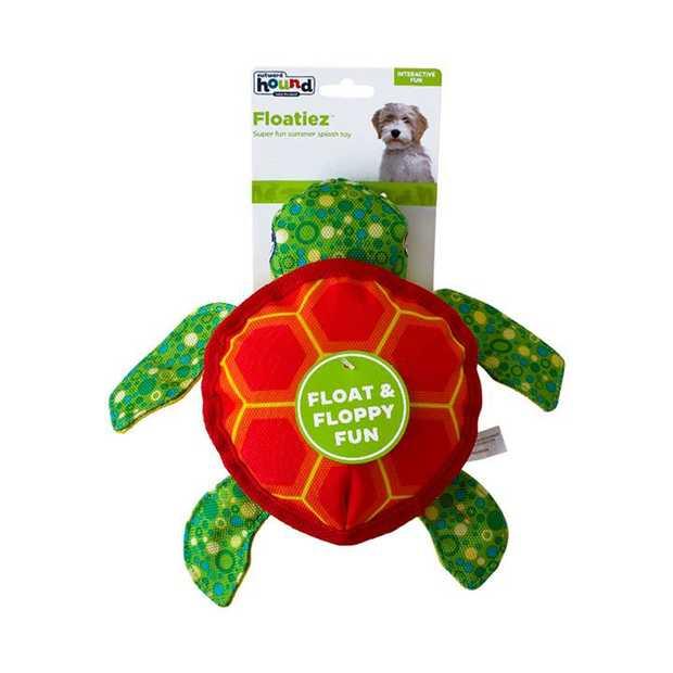 Outward Hound Floatiez Turtle Floating Squeaker Dog Toy