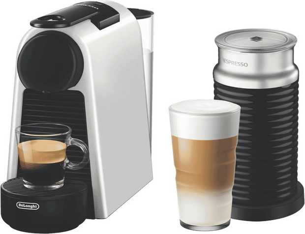 * 19 Bar Pressure Pump * 2 Cup Sizes: Espresso (40 ml) and Lungo (110 ml)* Eco Mode after 3 Minutes *...