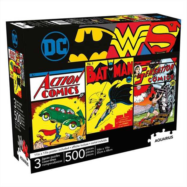 Includes 3 x 500pc jigsaw puzzles.
