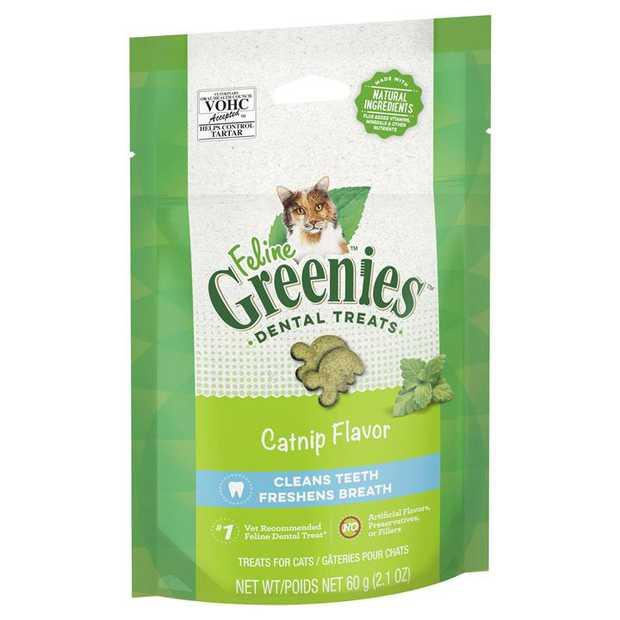 Greenies Feline Cat Dental Treats Catnip Flavour 60g