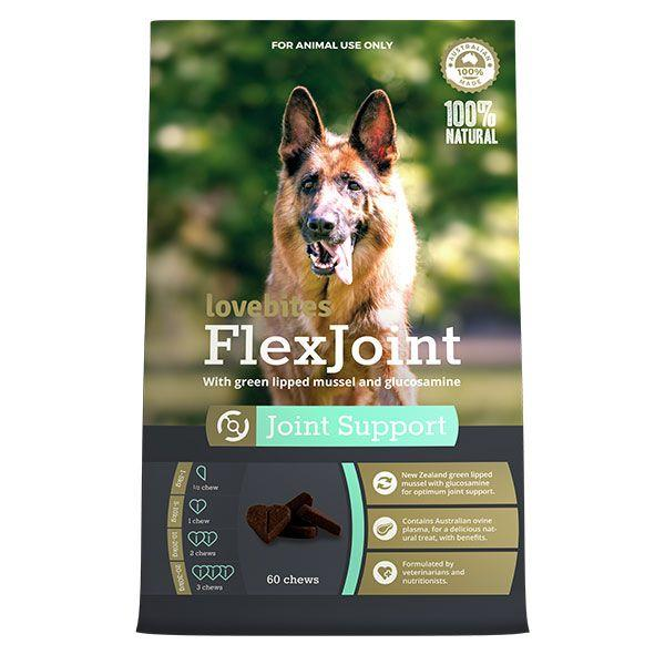 Show your dog the love and help relieve arthritic symptoms with Vetafarm FlexJoint Love Bites Joint...