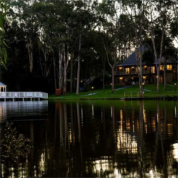 Enjoy tranquillity and spectacular private lake views during a country-meets-coast stay at the...