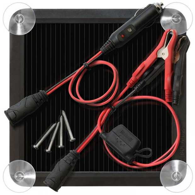 The BLSOLAR2 is a 2.5-watt solar battery charger and maintainer for maintaining 12-volt lead-acid...
