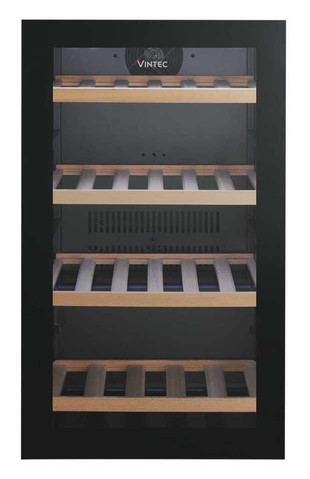 Adjustable wooden shelves Reversible door Digital temperature display LED internal lighting Triple...