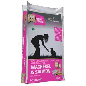 Meals for Mutts Mackerel & Salmon Grain Free Cat Dry Food 9kg is hypoallergenic, grain-free...