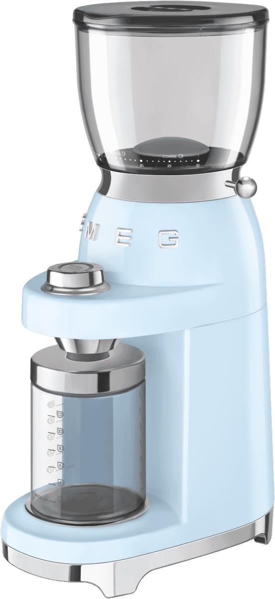 An ideal accompaniment to your Smeg coffee machine, the Smeg 50's Retro Style Coffee Grinder CGF01BLAU...