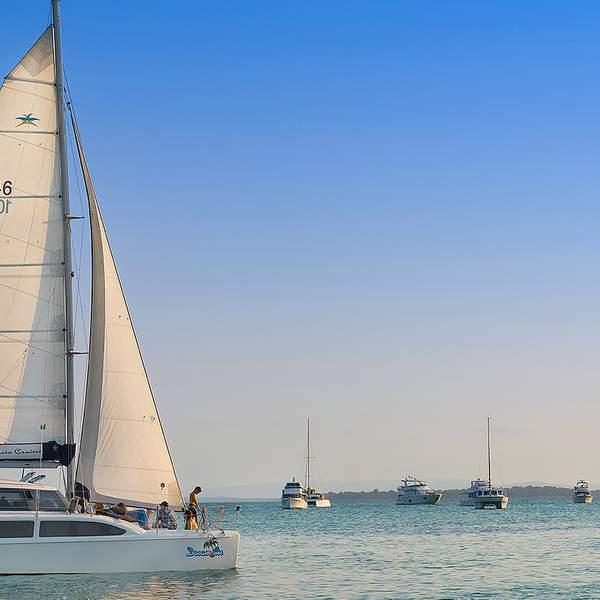 Set sail to North Stradbroke Island and discover the natural wonders of Moreton Bay with Aria Cruises.