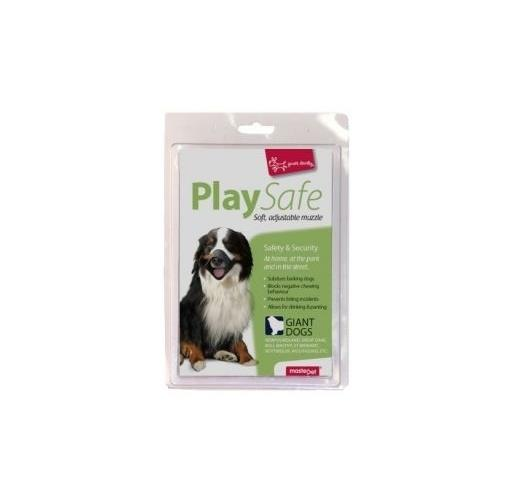 "Yours Droolly ""Play Safe"" Soft Dog Muzzle [Size: Giant]"