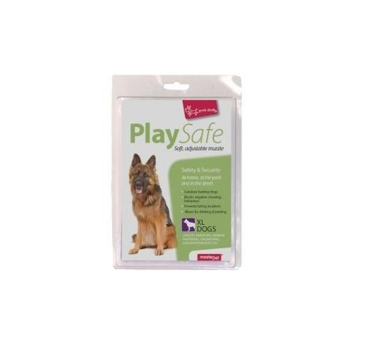 "Yours Droolly ""Play Safe"" Soft Dog Muzzle [Size: X-Large]"