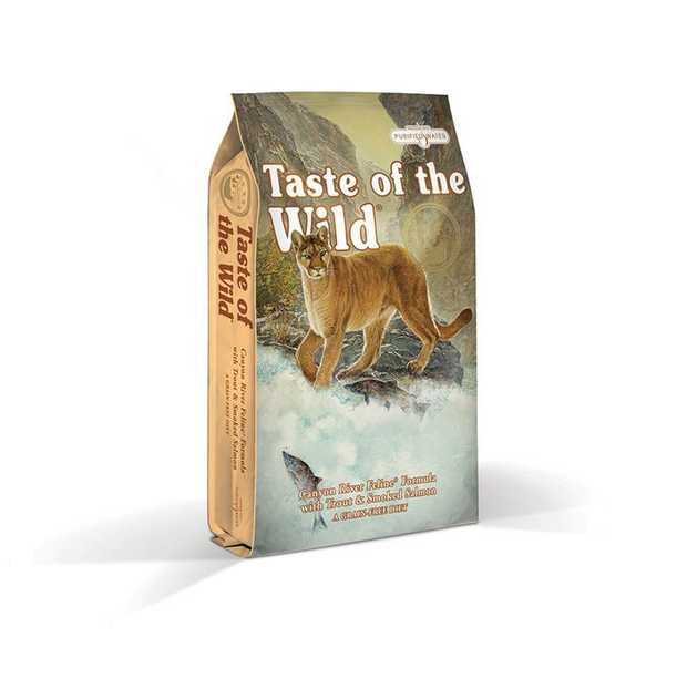 Taste of the Wild Grain Free Canyon River Formula Feline dry food is a highly digestible grain-free...