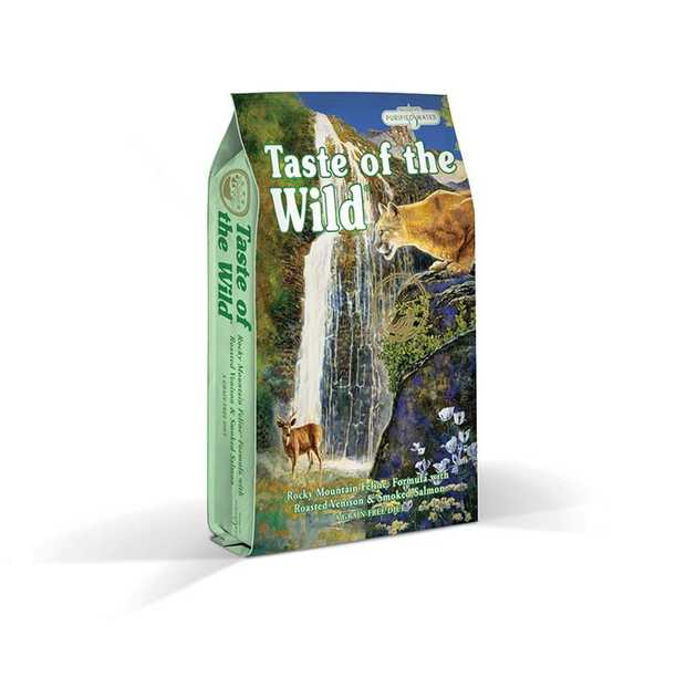 Taste of the Wild Grain Free Rocky Mountain Formula Feline dry food is a highly digestible grain-free...