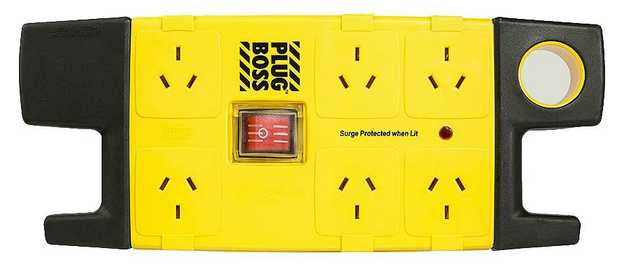 Ideal for workshops Rugged powerboard Two transformer spaced outlets CVord wrapping channel Parking...