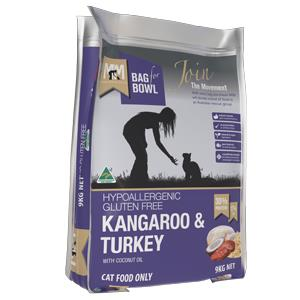 Meals for Mutts Kangaroo & Turkey Cat Dry Food 9kg is hypoallergenic, gluten-free and dairy free...