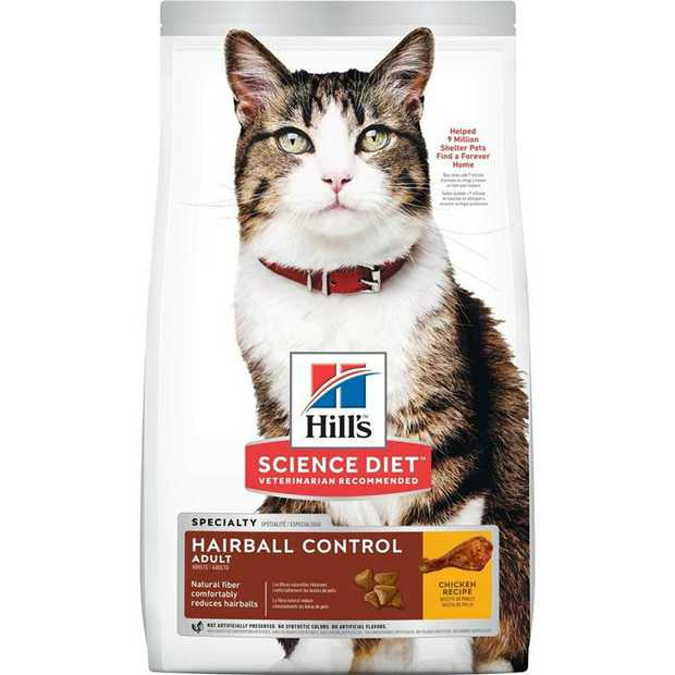 Hills Science Diet Adult Urinary Hairball Co10135ntrol Dry Cat Food 1.58kg