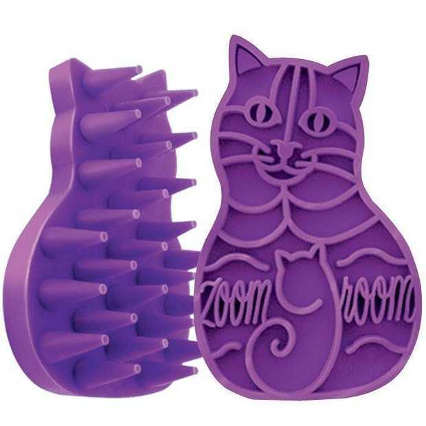 KONG ZoomGroom Silicone Cleaning Brush for Cats