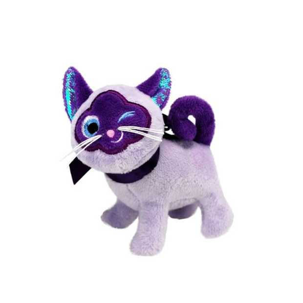 KONG Crackles Winkz Stuffed Crinkle Cat Toy - Winking Cat