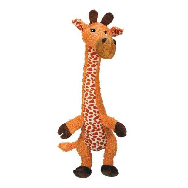 KONG Shakers Luvs Long-Limbed Squeaker Dog Toy - Small Giraffe