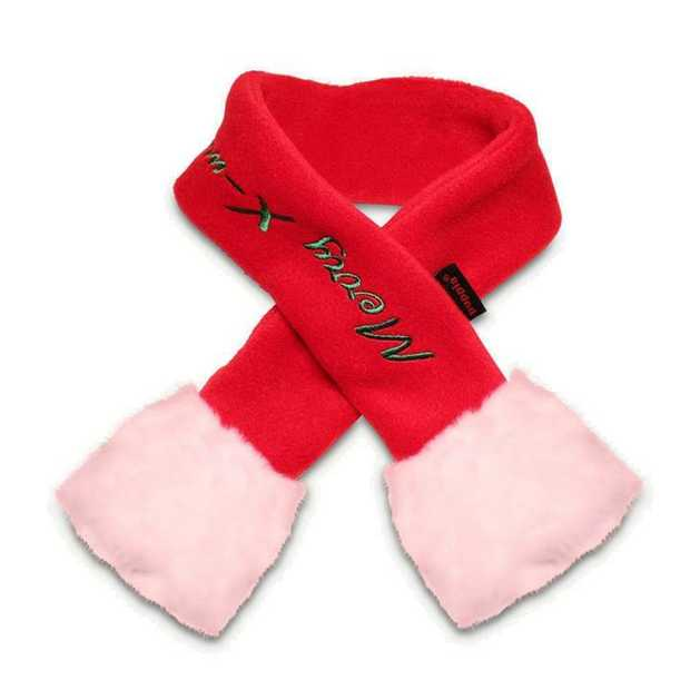 Puppia Red Santa Christmas Scarf for Cats and Dogs [Size: Large]