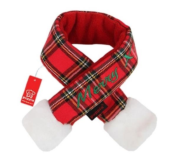 Puppia Red Santa Christmas Scarf for Cats and Dogs [Size: Small]