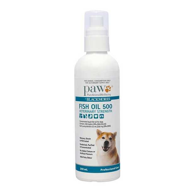PAW by Blackmores Fish Oil 500 for Dogs - Veterinary Strength 200ml