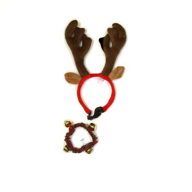 Outward Hound Antler & Collar with Bells Combo Pack - Large