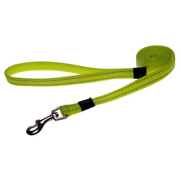 Rogz Utility Dog Leash with Reflective Stitching - Dayglow Yellow - XXL (Landing Strip)