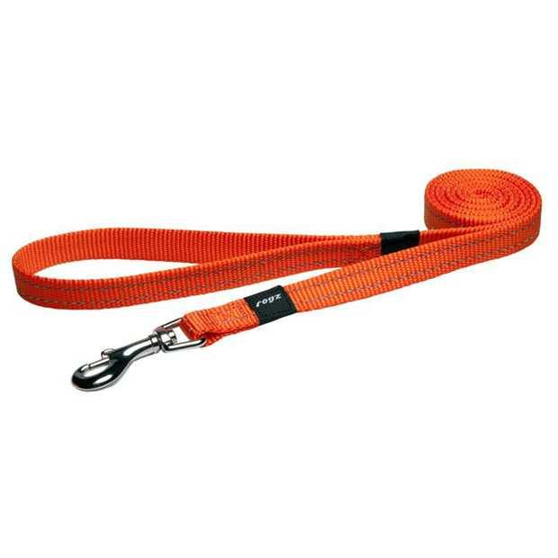 Rogz Utility Dog Leash with Reflective Stitching - Orange - XL (Lumberjack)
