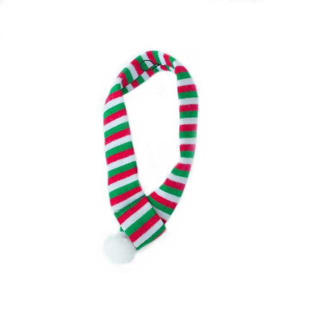 Zippy Paws Striped Christmas Scarf for your Dog - Small