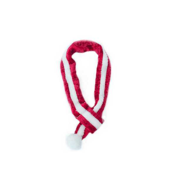 Zippy Paws Santa Christmas Scarf for Dogs & Cats - Small