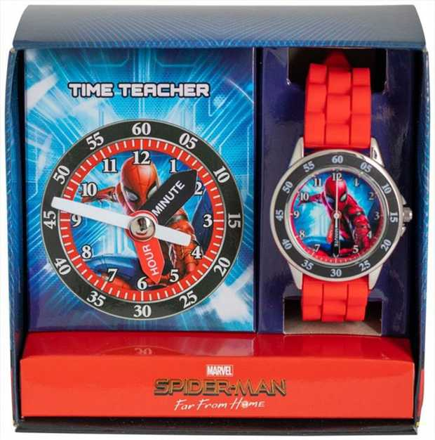 Your children can learn how the tell the time with our new Spiderman Time Teacher.  Stainless steel...