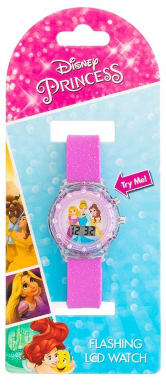 The fun never stops with this kids' Disney Princess watch that lights up at the touch of a...