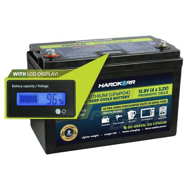 Our 100AH deep-cycle lithium batteries consist of four high quality aluminium-encased prismatic cells...