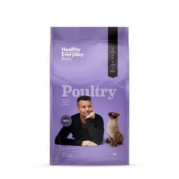 Healthy Everyday Pets Poultry Cat Food is a natural, Australian made, Paleo based diet for your cat.