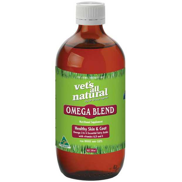 Vets All Natural Omega Blend for Healthy Skin & Coat for Cats & Dogs - 200ml