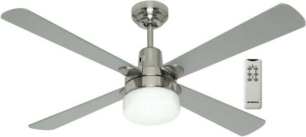This Mercator ceiling fan has a 1200mm blade diameter, so you can take the temperature down several...