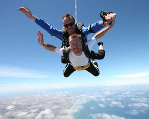 The ultimate adventure, your first Freefall Skydive! Beautiful coastal views of the Great Ocean Road...