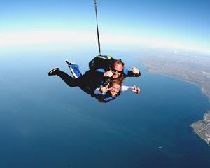 Skydiving! Experience the unparalleled thrill of free falling for up to 50-60 seconds at awesome speeds...