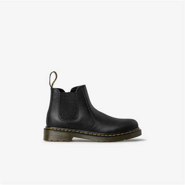 Crafted in soft black leathers, the 2976 chelsea boot was made for little rebels. The durable air...