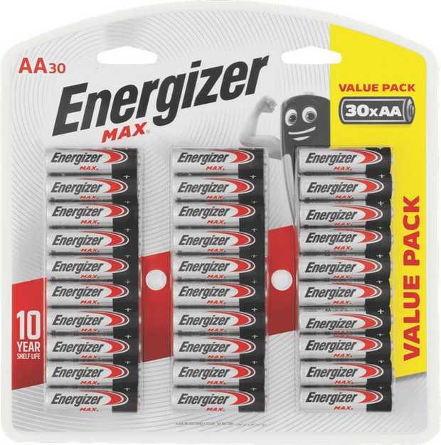 * 10 year shelf life* 1.5V batteries* Value pack