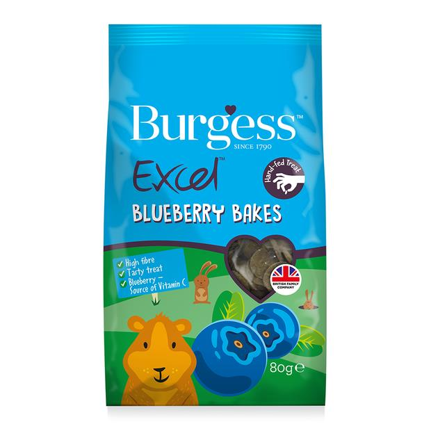 Burgess Excel Blueberry Bakes Each Pet: Small Pet Category: Small Animal Supplies  Size: 0.1kg  Rich...