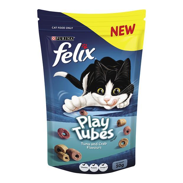 Felix Cat Treats Play Tubes Tuna And Crab 50g Pet: Cat Category: Cat Supplies  Size: 0.6kg  Rich...