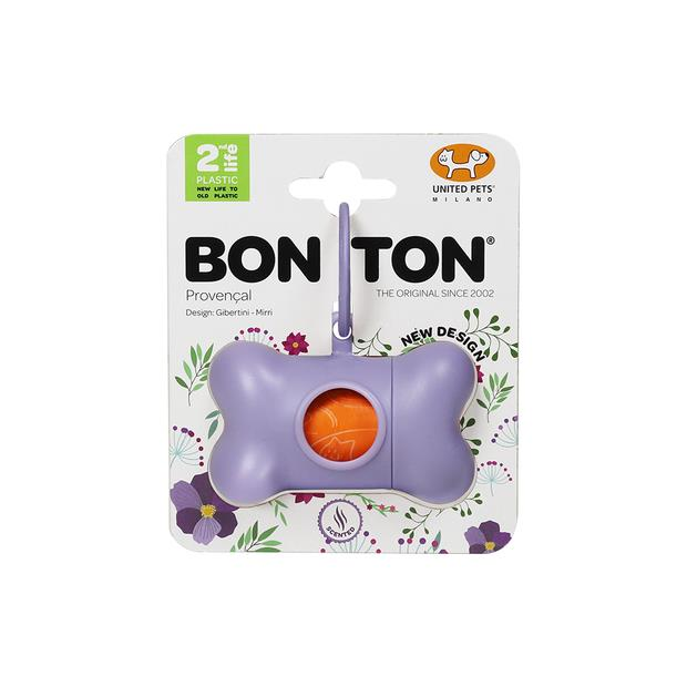 United Pets Waste Bags Bon Ton Recycled Plastic Lilac Each Pet: Dog Category: Dog Supplies  Size: 0.1kg...