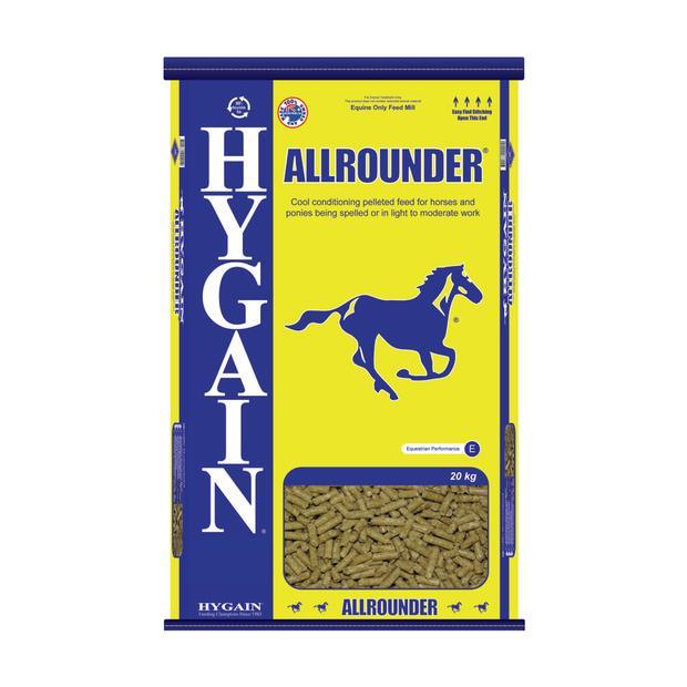 Hygain Allrounder 40kg Pet: Horse Size: 40kg  Rich Description: Suitable for Horses and ponies being...