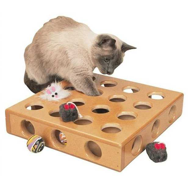 Smartcat Peek A Prize Toy Box Each Pet: Cat Category: Cat Supplies  Size: 1kg Colour: Brown  Rich...