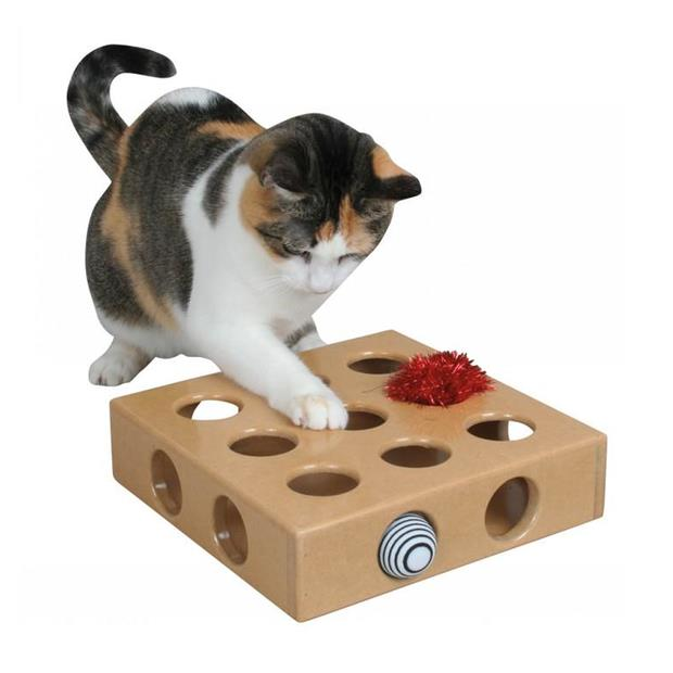 Smartcat Peek And Play Toy Box Each Pet: Cat Category: Cat Supplies  Size: 1kg Colour: Brown  Rich...