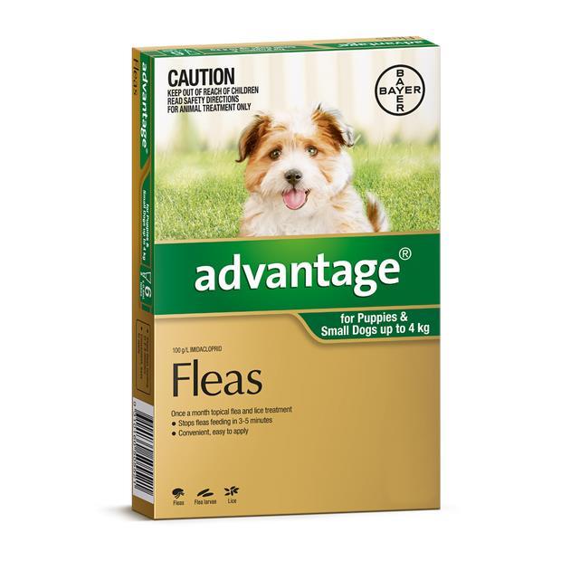 Advantage Dog Small Green 4 Pack Pet: Dog Category: Dog Supplies  Size: 0.1kg  Rich Description:...