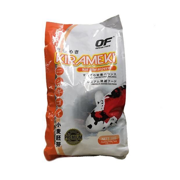 Ocean Free Kirameki Premium Wheatgerm Koi Pond Pellet Large 1kg Pet: Fish Category: Fish Supplies ...
